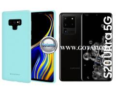 Mercury Soft Feeling dėklas nugarėlė Samsung Galaxy S20 Ultra telefonui mėtinės spalvos