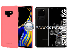 Mercury Soft Feeling dėklas nugarėlė Samsung Galaxy S20 Ultra telefonui rožinės spalvos