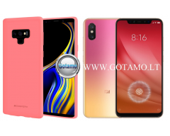 Mercury Soft Feeling dėklas nugarėlė Xiaomi Mi 8 Lite Xiaomi Mi 8X telefonui rožinės spalvos