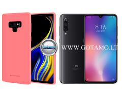 Mercury Soft Feeling dėklas nugarėlė Xiaomi Mi 9 telefonui rožinės spalvos