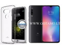 Mercury Soft Feeling dėklas nugarėlė Xiaomi Mi 9 telefonui skaidrus