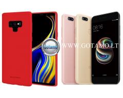 Mercury Soft Feeling dėklas nugarėlė Xiaomi Mi A1 Xiaomi Mi 5X telefonui raudonos spalvos
