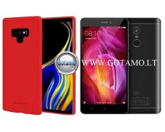 Mercury Soft Feeling dėklas nugarėlė Xiaomi Redmi Note 4 Xiaomi Redmi Note 4X telefonui raudonos spalvos