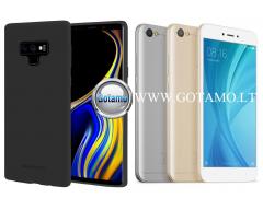 Mercury Soft Feeling dėklas nugarėlė Xiaomi Redmi Note 5A telefonui juodos spalvos