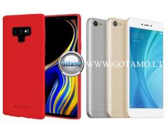 Mercury Soft Feeling dėklas nugarėlė Xiaomi Redmi Note 5A telefonui raudonos spalvos