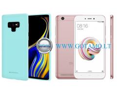 Mercury Soft Felling dėklas nugarėlė Xiaomi Redmi 5A telefonui mėtinės spalvos