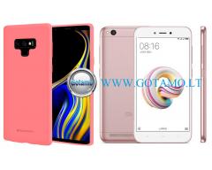 Mercury Soft Felling dėklas nugarėlė Xiaomi Redmi 5A telefonui rožinės spalvos