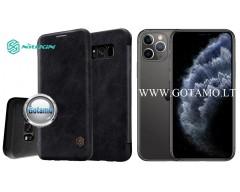 Nillkin Qin odinis dėklas Apple iPhone 11 Pro telefonams juodos spalvos