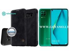 Nillkin Qin odinis dėklas Huawei P40 Lite telefonui juodos spalvos