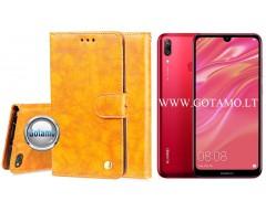Odyssey dėklas Huawei Y7 (2019) telefonams garstyčių spalvos