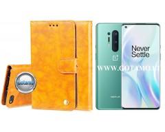 Odyssey dėklas OnePlus 8 Pro telefonams garstyčių spalvos