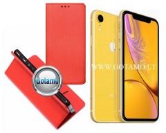 Re-Grid magnetinis dėklas Apple iPhone XR mobiliesiems telefonams raudonos spalvos