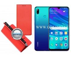 Re-Grid magnetinis dėklas Huawei P Smart (2019) telefonams raudonos spalvos