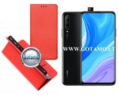Re-Grid magnetinis dėklas Huawei P Smart Pro (2019) Huawei Y9 Prime telefonams raudonos spalvos