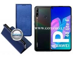 Re-Grid magnetinis dėklas Huawei P40 Lite E, Huawei Y7P mobiliesiems telefonams mėlynos spalvos