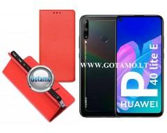 Re-Grid magnetinis dėklas Huawei P40 Lite E, Huawei Y7P mobiliesiems telefonams raudonos spalvos