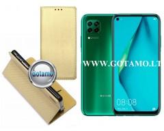 Re-Grid magnetinis dėklas Huawei P40 Lite mobiliesiems telefonams aukso spalvos