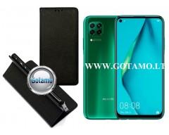 Re-Grid magnetinis dėklas Huawei P40 Lite mobiliesiems telefonams juodos spalvos