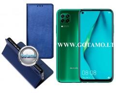 Re-Grid magnetinis dėklas Huawei P40 Lite mobiliesiems telefonams mėlynos spalvos