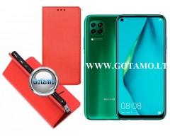 Re-Grid magnetinis dėklas Huawei P40 Lite mobiliesiems telefonams raudonos spalvos