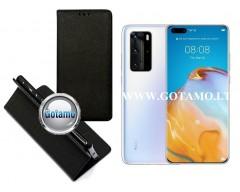 Re-Grid magnetinis dėklas Huawei P40 Pro telefonams juodos spalvos