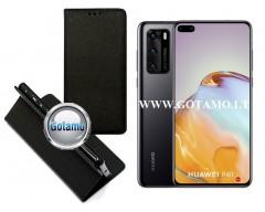 Re-Grid magnetinis dėklas Huawei P40 telefonams juodos spalvos