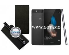 Re-Grid magnetinis dėklas Huawei P8 Lite telefonams juodos spalvos