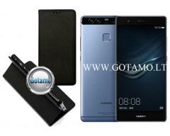 Re-Grid magnetinis dėklas Huawei P9 telefonams juodos spalvos