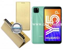 Re-Grid magnetinis dėklas Huawei Y5p telefonams aukso spalvos