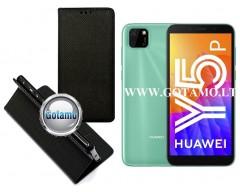 Re-Grid magnetinis dėklas Huawei Y5p telefonams juodos spalvos