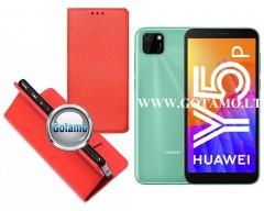 Re-Grid magnetinis dėklas Huawei Y5p telefonams raudonos spalvos