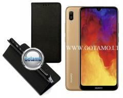 Re-Grid magnetinis dėklas Huawei Y6 (2019) Huawei Honor 8A mobiliesiems telefonams juodos spalvos