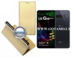 Re-Grid magnetinis dėklas LG G8S ThinQ telefonams aukso spalvos