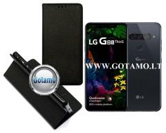 Re-Grid magnetinis dėklas LG G8S ThinQ telefonams juodos spalvos