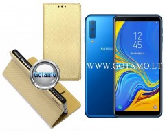 Re-Grid magnetinis dėklas Samsung Galaxy A20e telefonams aukso spalvos