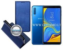 Re-Grid magnetinis dėklas Samsung Galaxy A20e telefonams mėlynos spalvos