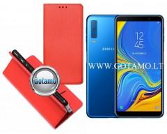 Re-Grid magnetinis dėklas Samsung Galaxy A20e telefonams raudonos spalvos