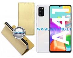 Re-Grid magnetinis dėklas Samsung Galaxy A41 mobiliesiems telefonams aukso spalvos