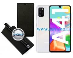 Re-Grid magnetinis dėklas Samsung Galaxy A41 mobiliesiems telefonams juodos spalvos