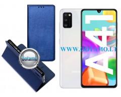 Re-Grid magnetinis dėklas Samsung Galaxy A41 mobiliesiems telefonams mėlynos spalvos