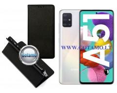Re-Grid magnetinis dėklas Samsung Galaxy A51 telefonams juodos spalvos