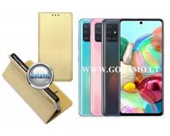 Re-Grid magnetinis dėklas Samsung Galaxy A71 telefonams aukso spalvos