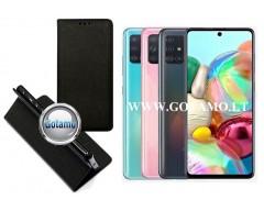 Re-Grid magnetinis dėklas Samsung Galaxy A71 telefonams juodos spalvos