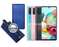 Re-Grid magnetinis dėklas Samsung Galaxy A71 telefonams mėlynos spalvos