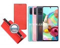 Re-Grid magnetinis dėklas Samsung Galaxy A71 telefonams raudonos spalvos