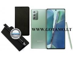 Re-Grid magnetinis dėklas Samsung Galaxy Note 20 telefonams juodos spalvos
