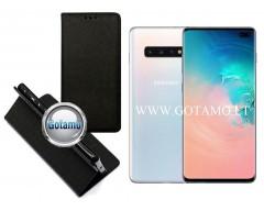 Re-Grid magnetinis dėklas Samsung Galaxy S10+ telefonams juodos spalvos