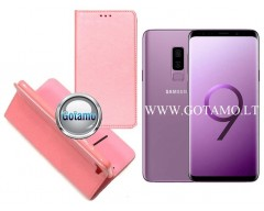 Re-Grid magnetinis dėklas Samsung Galaxy S9+ telefonams šviesiai rožinės spalvos