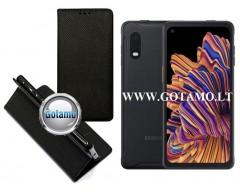 Re-Grid magnetinis dėklas Samsung Galaxy Xcover Pro telefonams juodos spalvos