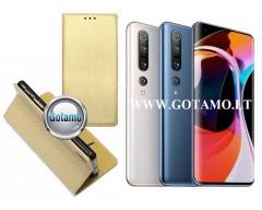 Re-Grid magnetinis dėklas Xiaomi Mi 10, Xiaomi Mi 10 Pro telefonams aukso spalvos